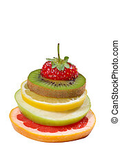 Mixed Fruit over white background