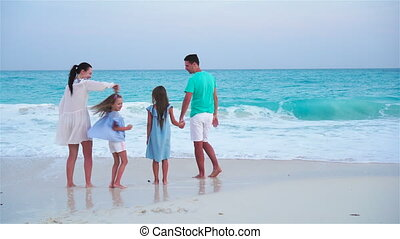 Fun family vacation on the beach