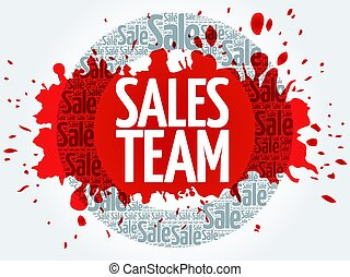 Sales Team stamp vector words cloud, business concept...
