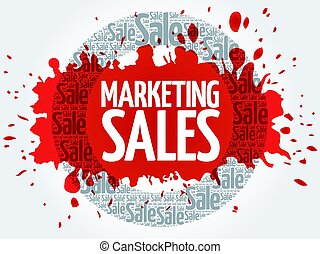 Marketing SALES stamp words cloud, business concept...