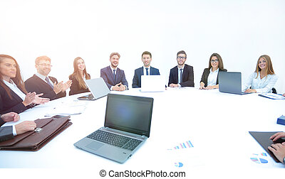 closeup of business partners complete the work on signing of the