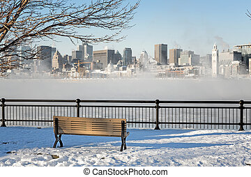 Downtown Montreal in winter