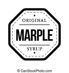 Marple Syrup vintage sign vector