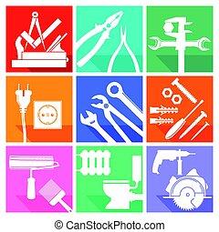 Werkzeug Symbole.eps - Tool sign, locksmith, carpenter,...