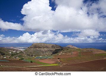 North Gran Canaria, agricultural landscape of Santa Maria de...