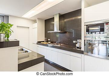 Kitchen with stylish amenities - Modern kitchen interior...