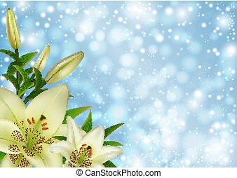 White lily flowers decoration