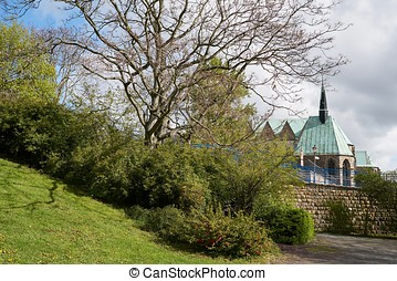Magdeburg - The Magdalenen Chapel in the old town of...
