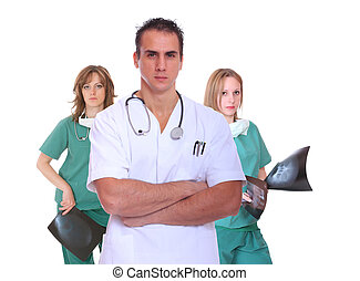 medical team isolated