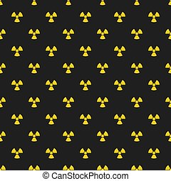 Abstract pattern. Yellow marks of radiation on a black...