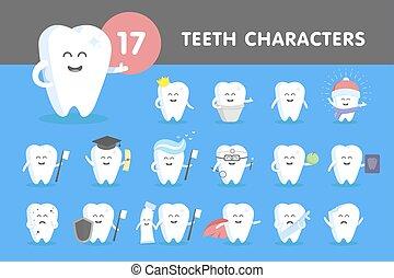 Set of smiling teeth