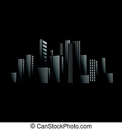 City lights design in front of black background