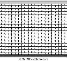 Tennis Net Horizontal Seamless Pattern Background. Vector Illustration