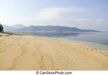 Gili Air at Indonesia - beach scenery of Gili Air wich is...