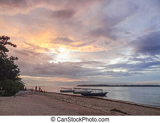 Gili Air at Indonesia - beach scenery at Gili Air wich is...