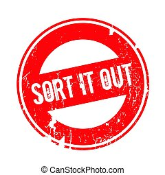 Sort It Out rubber stamp