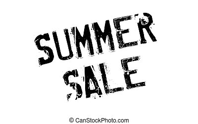 Summer Sale rubber stamp. Grunge design with dust scratches....