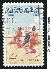 stamp - UNITED STATES - CIRCA 1961: stamp printed by United...