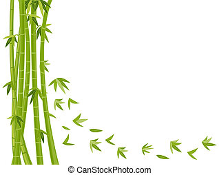 Bamboo Background - Illustration Featuring a Bamboo Design...