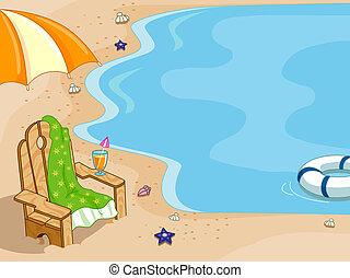 Beach Chair Background - Background Illustration Featuring a...