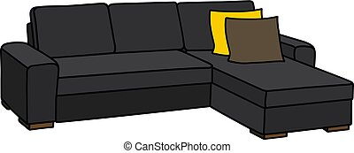 Big black couch