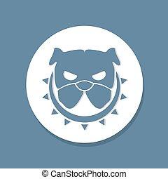 angry dog symbol - design of angry dog symbol