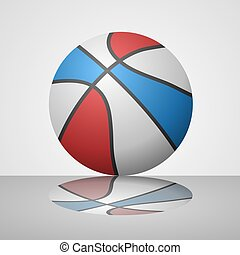basket ball with reflection - design of basket ball with...