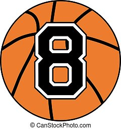 eight basket ball symbol - design of eight basket ball...
