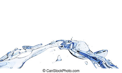 Abstract clean water arch whirl flow
