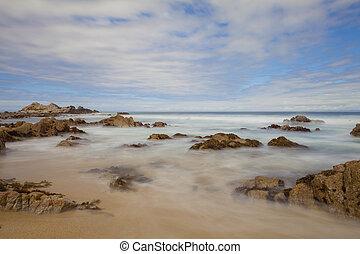 Pacifica Grove Carmel California Beach Rocks - A long...