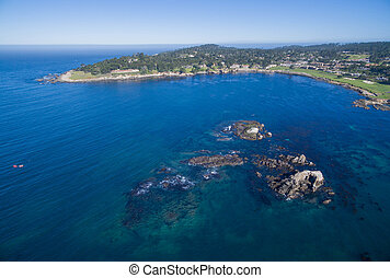 Pescadero Point Carmel California - A unique aerial view of...