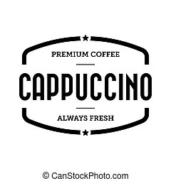 Coffee Cappuccino vintage stamp vector
