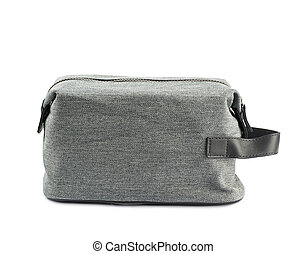Gray hygienic handbag isolated - Gray hygienic handbag with...