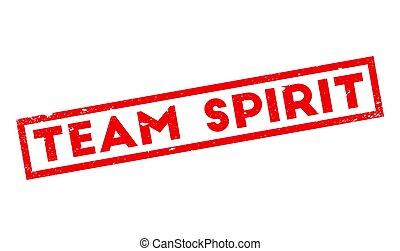Team Spirit rubber stamp. Grunge design with dust scratches....