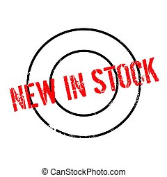 New In Stock rubber stamp. Grunge design with dust...