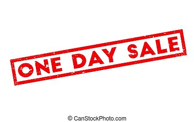 One Day Sale rubber stamp. Grunge design with dust...