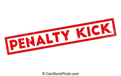 Penalty Kick rubber stamp