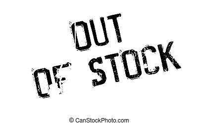 Out Of Stock rubber stamp. Grunge design with dust...