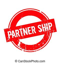 Partner Ship rubber stamp. Grunge design with dust...