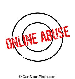 Online Abuse rubber stamp. Grunge design with dust...