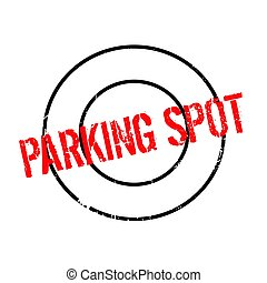 Parking Spot rubber stamp. Grunge design with dust...