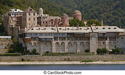 Athos's monastery at summer
