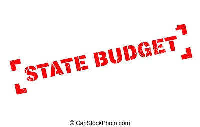 State Budget rubber stamp. Grunge design with dust...