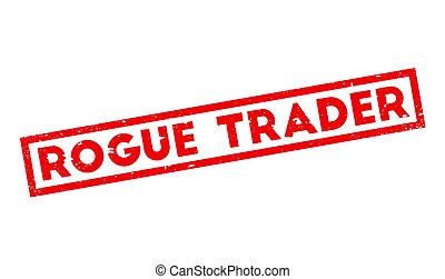 Rogue Trader rubber stamp. Grunge design with dust...