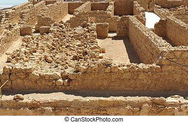 Ruins of ancient Masada fortress
