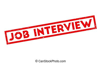 Job Interview rubber stamp. Grunge design with dust...