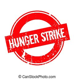 Hunger Strike rubber stamp. Grunge design with dust...