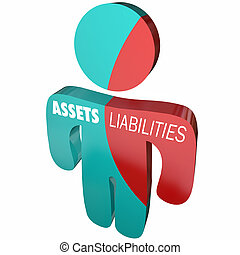 Assets Liabilities Company Business Accounting Person 3d...