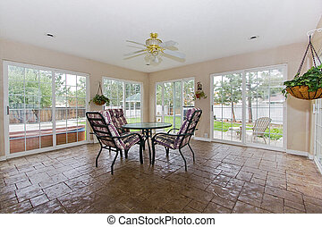 Sunroom in a house - furnished home