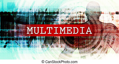 Multimedia Sector with Industrial Tech Concept Art